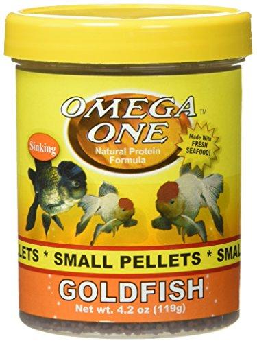 Omega One Goldfish Small Sinking Pellets, 4.2 oz.