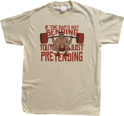 If The Bar's Not Bending, You're Pretending Unisex T-shirt Funny Weight Lifting Shirt
