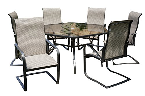 Rose Garden Patio 7-PC Scottsdale Dining Set (Furniture Rust Proof Patio)