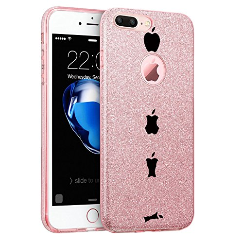 Price comparison product image iPhone 7 Plus Case Hard PC Soft TPU Luxury Bling Bling Protective for Apple 7 Plus (1, iPhone 7 Plus)