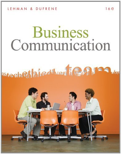 By Carol M. Lehman Bundle: Business Communication (with Teams Handbook), 16th + Aplia Printed Access Card + Aplia Editi (16th Sixteenth Edition) [Hardcover]