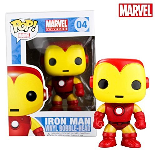 Edition Bobble Head Doll - FUNKO POP Marvel comics Iron Man ironman Q edition bobblehead doll model