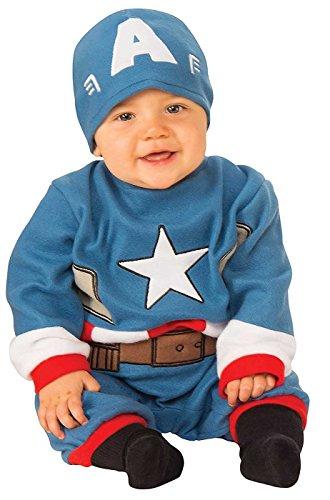 Rubie's Baby's Marvel Captain America Romper, Newborn (0-6