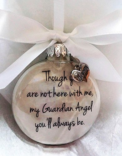 - In Memory of Granny Sympathy Gift My Guardian Angel Grandmother Memorial Christmas Ornament