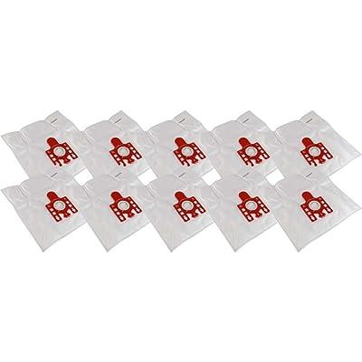 10 sacs d'aspirateur en microfibre non-tissée avec raccordement solide plateau + 4Filtre de protection du moteur pour Miele XS Parquet