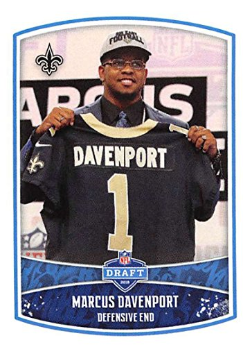 - 2018 Panini NFL Stickers Collection #9 Marcus Davenport RC Rookie New Orleans Saints Draft Picks Official Football Stick
