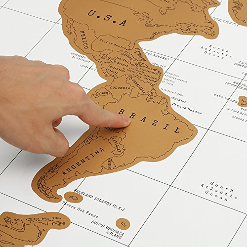 Paper Traveling Scratch Map World Edition Convenient Marking Toys Gift