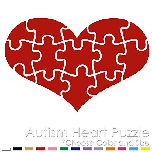 AH-01 Autism Heart Puzzle Vinyl Decal Sticker