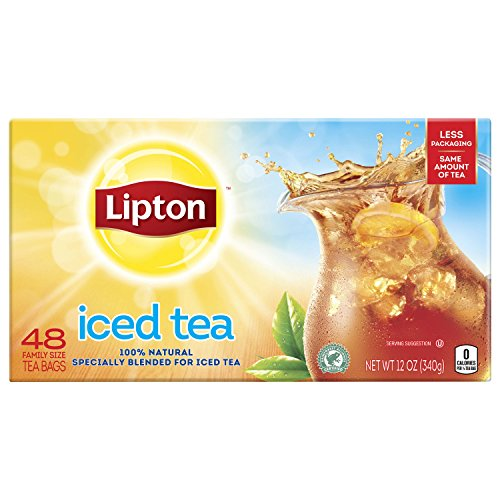 - Lipton Family-Sized Black Iced Tea Bags, Unsweetened 48 ct