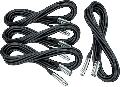 Musician's Gear Lo-Z Mic Cable 20' 4-Pack
