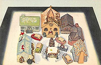 Covington Kentucky 4 Seasons Crochet House Winter Lena Sauer Postcard J59817