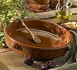 Terra Cotta Cazuela Dish, Round - 15 Inch / 24 cups