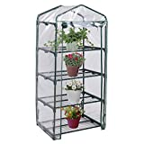 Light Green, 4 Shelves Green House Portable Mini Outdoor Green house Garden