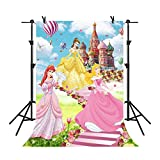 MME 5x7Ft Disney Castle Cartoon Background Fairy Tales Beautiful Princess Children Photography Seamless Vinyl Video Studio Photograph Backdrop LXME551