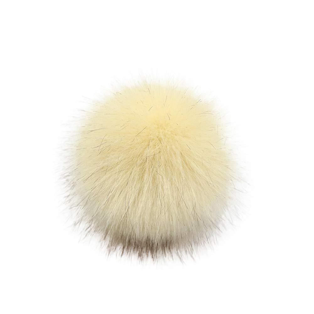 Y56 DIY Pompon Fausse Fourrure Faux Pom Pom Ball Pompon Pompon Fausse Fourrure pour Tricot Chapeaux Accessoires Pompon