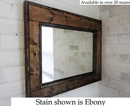 Renewed d cor herringbone reclaimed wood for Large wall mirror wood frame