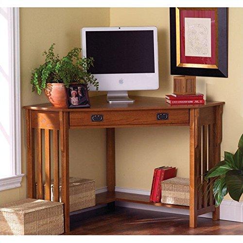 Holly and Martin Alexander Corner Computer Desk in Mission Oak