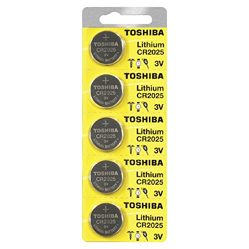 Toshiba CR2025 3 Volt Lithium Coin Battery 500 pcs by Toshiba