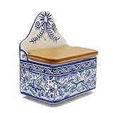 Madeira House Coimbra Ceramics Hand-Painted Decorative Salt Holder XVII Cent Recreation #137-1