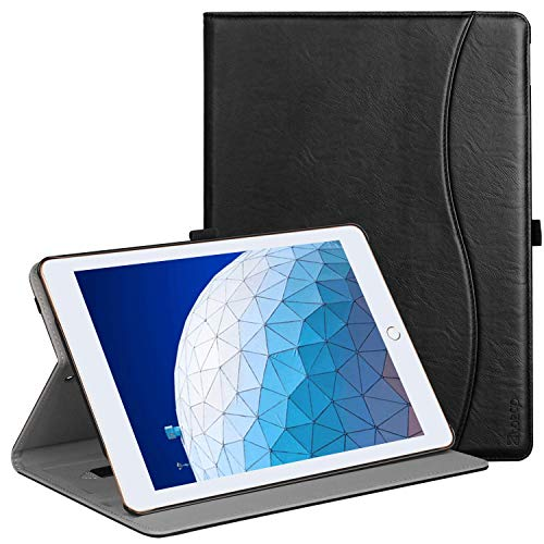Ztotop Case for iPad Air 10.5 (3rd Gen) 2019/iPad Pro 10.5 2017, Premium Leather Business Slim Folding Stand Folio Cover for New iPad Tablet with Auto Wake/Sleep, Multiple Viewing Angles, Black