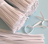 2000pcs 4″ Paper WHITE Twist Ties, Appliances for Home