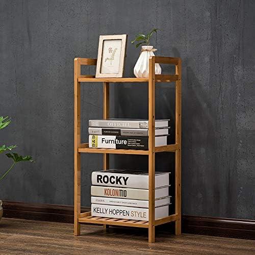 Bambú 5 nivel Biblioteca, Estante de exhibición del estante Estantería decorativa Estrecha Soporte de exhibición de la biblioteca Alto Multiusos Para hogar u oficina -A 35x25x71cm(14x10x28inch): Amazon.es: Hogar
