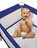 Snoozy Cotton Waterproof PlayYard Mattress Pad Featuring Saftety Stay on Corners, 27''x 37''