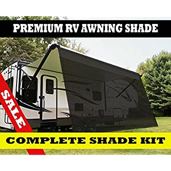 RV Awning Shade 6x15 Complet kits  sc 1 st  Amazon.com & Amazon.com: RV Awning Shade Complete Kit 8u0027x20u0027 (Black): Sports ...