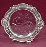 ATHENIC BY GORHAM STERLING SILVER WINE COASTER W/GLASS INSIDE 7 1/2