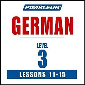 German Level 3 Lessons 11-15 Speech