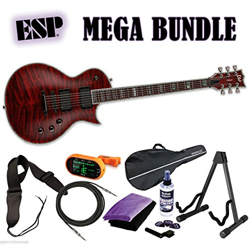ESP LTD Deluxe EC-1000QM STBC See Thru Black Cherry *NEW* FREE MEGA BUNDLE 1