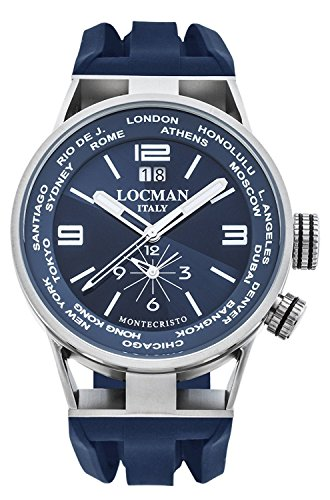 LOCMAN watch MONTECRISTO WORLD 0508A02S-00BLWHSB Men's