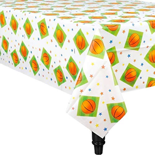 Basketball Printed Plastic Table Cover for Party, 6 -