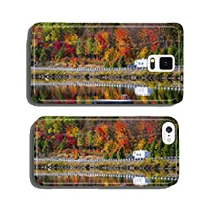 Highway through fall forest cell phone cover case Samsung S6