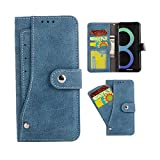 Galaxy S8 Plus Case, S8+ Case, VPR Premium PU Leather Wallet [NEW] [Card Holder] Strong Magnetic Closure Flip Protective Cover with Card Slots & Stand For Samsung Galaxy S8 Plus/ S8+ (Blue)