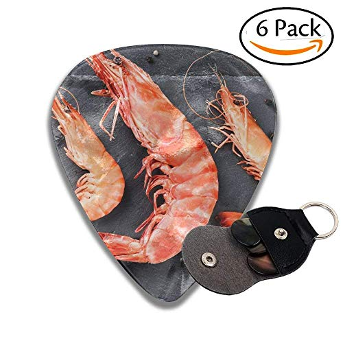 mbo Shrimps For Dinner On Stone Plate Food Background Stylish Celluloid Guitar Picks Plectrums For Guitar Bass .46mm 6 Pack ()