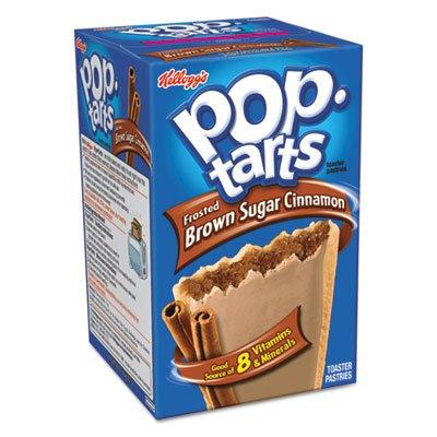 Kelloggs Brown Sugar - Kellogg's 31131 Pop Tarts, Frosted Brown Sugar Cinnamon, 3.52oz, 2/Pack, 6 Packs/Box