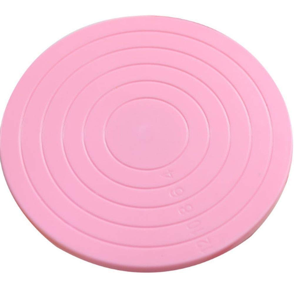 Alimao Mini Cake Plate Revolving Platform Turntable Round Rotating Swivel Baking Cute Pink by Alimao (Image #1)