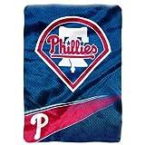 "The Northwest Company Officially Licensed MLB Philadelphia Phillies Speed Plush Raschel Throw Blanket, 60"" x 80"""