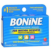 Bonine Motion Sickness Tablets-Raspberry - 8 ct
