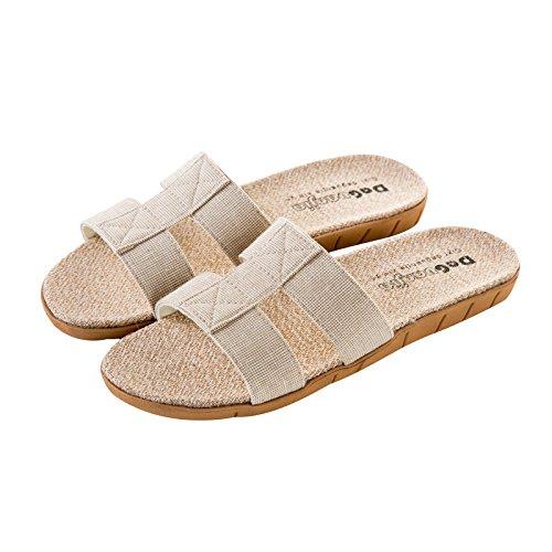 Aemember zapatillas Ropa de verano, las parejas Ladies Home Home piso antideslizante, Verano zapatillas,39-40,modelos femeninos - Luz caqui 39-40|Female models - light Khaki