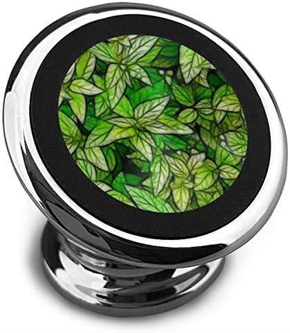 緑の葉のスケッチ 携帯電話ホルダー おしゃれ 車載ホルダー 人気 磁気ホルダー 大きな吸引力 サポートフレーム 落下防止 360度回転