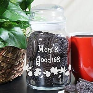 """Grandma's Goodies Personalized Treat Jar, 5.5"""" h x 4"""" w, Holds 26 oz"""