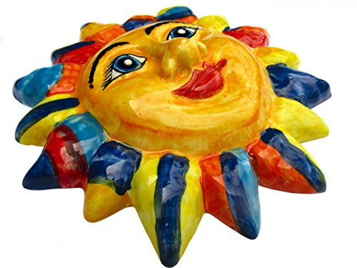 The Jester Sun - Hee Hee!! - Ceramic Sun Hand Painted In Spain by Cactus Canyon Ceramics