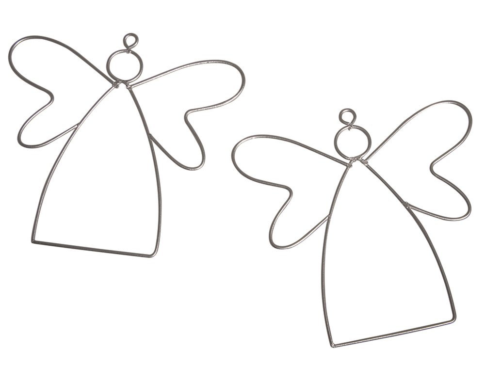 2 Hanging Metal Wire Angels to Decorate - 13cm | Metal Wire & Craft Hoops Crafty Capers