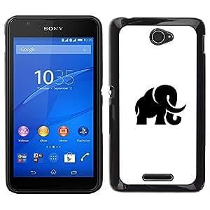 LECELL--Funda protectora / Cubierta / Piel For Sony Xperia E4 -- Mammoth Haunt --
