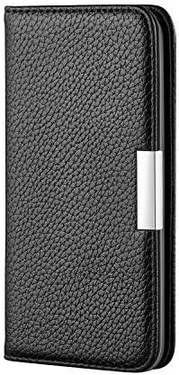 Docrax Galaxy A7 2018 ケース 手帳型 スタンド機能 財布型 カードポケット マグネット ギャラクシーA7 手帳型ケース レザーケース カバー - DORXU020087 黒