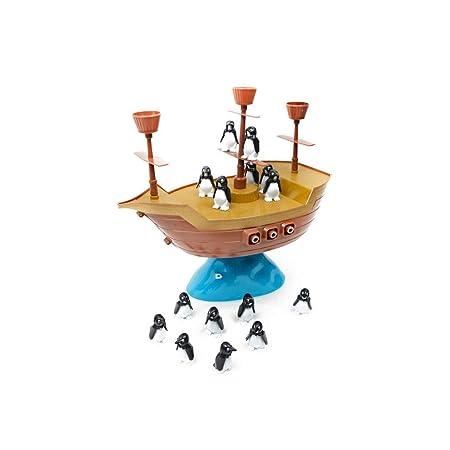 FLYSXP Juguete Balancín Pingüino Barco Pirata Juego De Mesa ...