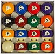 """Collapsar AAA Grade Billiard Pool Ball Set,2-1/4"""" Regulation Size & Weight Full 16 Resin Balls(Severa"""