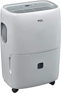 TCL 20 Pint (1,500 sq. ft.) Portable Dehumidifier for Bedrooms and Offices, White